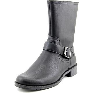 Aerosoles Bridesmaid   Round Toe Leather  Mid Calf Boot