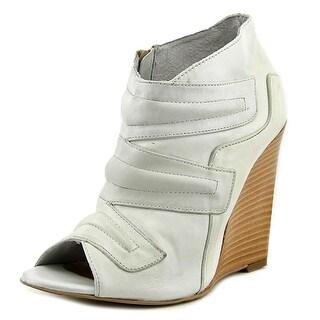 Fabriziochini 3764 Open Toe Leather Wedge Heel