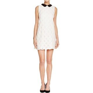 Aqua Womens Semi-Formal Dress Lace Overlay Collar