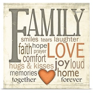 Jo Moulton Poster Print entitled Family Typography