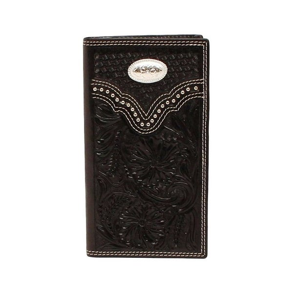 Nocona Western Wallet Mens Rodeo Checkbook Embossed Leather - One size