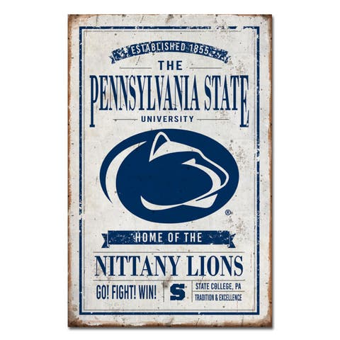 Penn State University Vintage Tin Sign