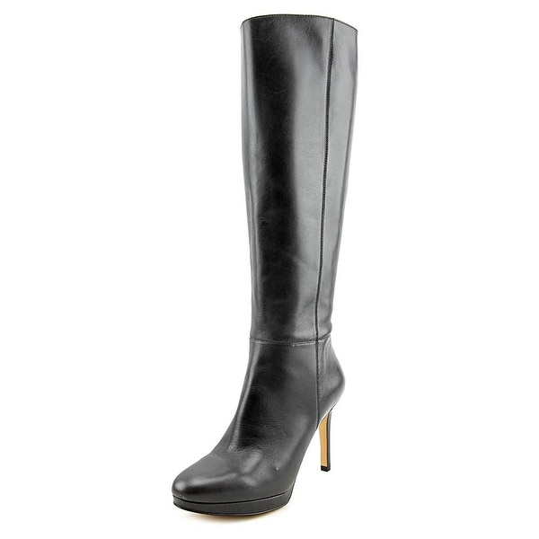 Nine West Okena Round Toe Leather Knee High Boot
