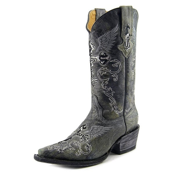 Very Volatile Rocker Women Pointed Toe Leather Gray Western Boot
