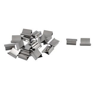 Unique Bargains 20 x Replaceable Metal Paper Fast Clam Stapler Dispenser Clips
