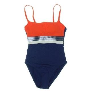 Bleu Rod Beattie Womens Colorblock Underwire One-Piece Swimsuit - 10