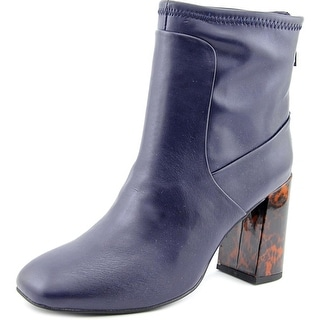 Charles By Charles David Trudy Women Square Toe Synthetic Blue Ankle Boot