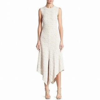 Akris Womens Asymmetric Geo-Pattern A-Line Dress