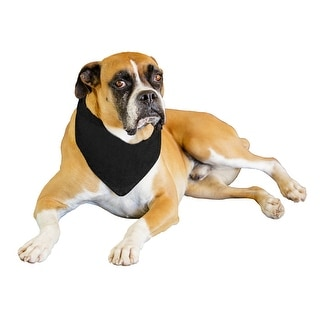 Link to Jordefano Solid Polyester Dog Neckerchief Triangle Bibs - Extra Large - One Size Similar Items in Hair Accessories