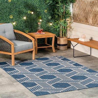 nuLOOM Milania Geometric Lattice Indoor/Outdoor Area Rug
