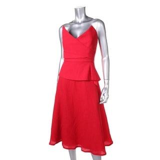 BCBG Max Azria Womens Tessa Textured Strapless Cocktail Dress