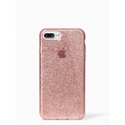 Kate Spade New York Flexible Tinted Glitter Case for iPhone 8 Plus / iPhone 7 Plus / iPhone 6 Plus, Rose Gold