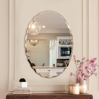 Link to Porch & Den Outlook Beveled Oval Venetian Frameless Wall Mirror Similar Items in Mirrors