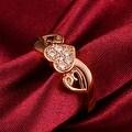 Rose Gold Floral Leaf Ring - Thumbnail 2
