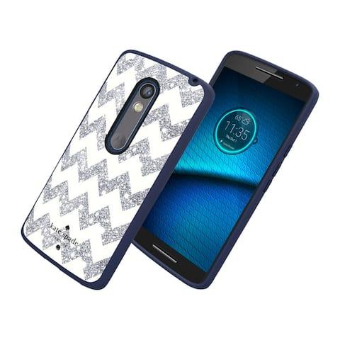 Kate Spade New York Flexible Hardshell Case for Motorola Droid Maxx 2 (Chevron S