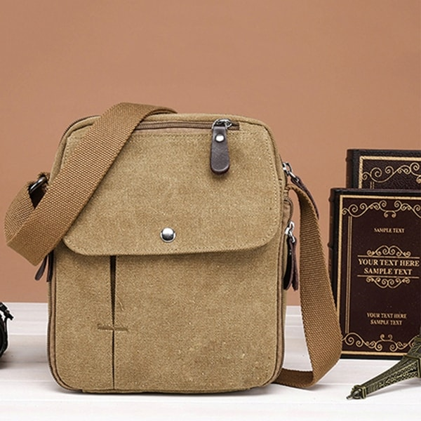 7dc41b990bbe Men  x27 s Vintage Canvas Multifunction Travel Satchel Casual Messenger  Shoulder Bag