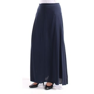 Womens Navy Maxi Shift Skirt Size 8
