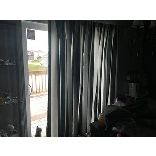 Lush Decor Wilbur Blackout Window Curtain Panel Pair
