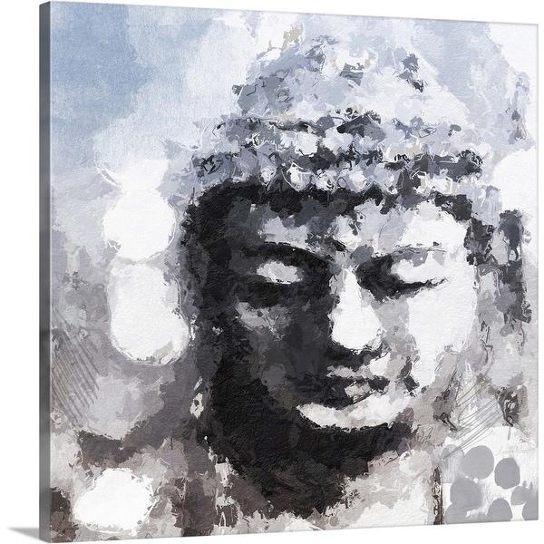 """Peaceful Buddha"" Canvas Wall Art"