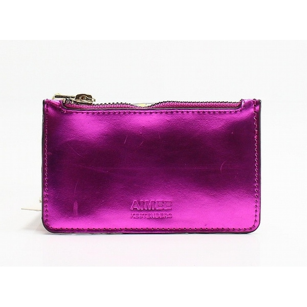 Aimee Kestenberg Metallic Cosmo Pink Melbourne Leather Mini Wallet