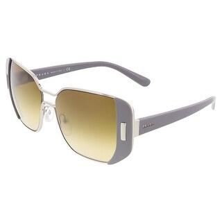 Prada PR 59SS UR91G0 Silver/Grey Rectangular Sunglasses