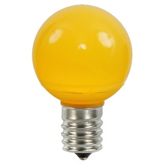 Pack of 25 Yellow Ceramic LED G50 Christmas Replacement Bulbs