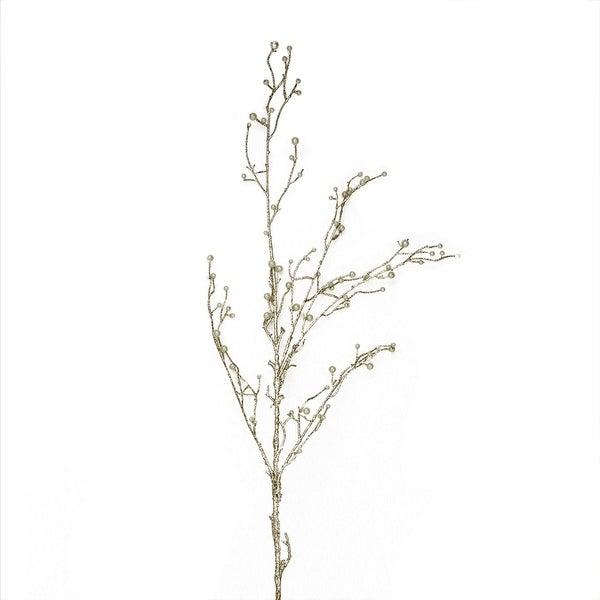 "47"" Silver Glitter Pearl Artificial Christmas Branch"
