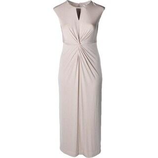 Tahari ASL Womens Evening Dress Matte Jersey Glitter