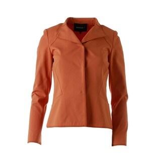 Lafayette 148 Womens Mandarin Collar Snap Front Casual Blazer - 12