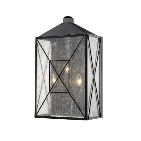 Caswell 3-light Outdoor Wall Lantern with Glass Panels