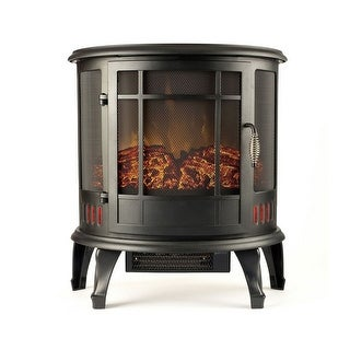 """Gibson Living 22"""" Heater Vent Free Curved Electric Fireplace Stove Better than Wood Fireplaces, Gas Logs, Wall Mounted - N/A"""