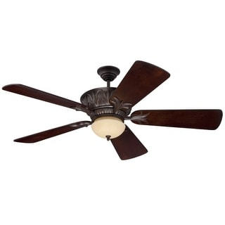 "Craftmade Pavilion Pavillion 44"" - 56"" 5 Blade Indoor / Outdoor Ceiling Fan - Remote and Light Kit Included - Requires Blade"