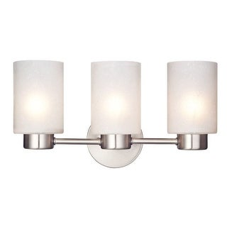 """Westinghouse 6227900 8.25"""" Tall 3-Light Wall Sconce with Frosted Seedy Glass Shades from the Sylvestre Collection"""