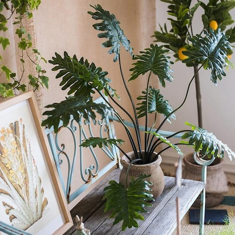 """RusticReach Potted Plant Artificial Philodendron Plant 31"""" Tall"""