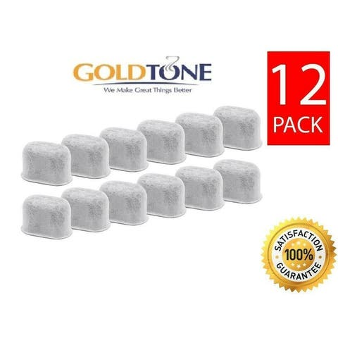 GoldTone Activated Charcoal Water Filters Fits All KEURIG Coffee Machines, Mini, Classic 1.0, 2.0 Replacement Filter - (12 Pack)