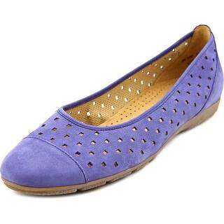 Gabor Hovercraft Women Round Toe Leather Blue Flats