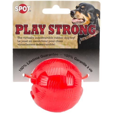 "Play Strong Rubber Ball 2.5""-Red"