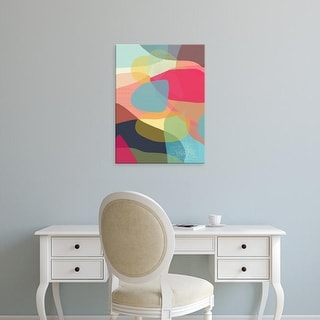 Easy Art Prints Jan Weiss's 'Layered Earth One' Premium Canvas Art
