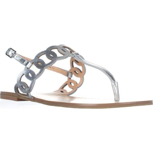 Daya by Zendaya Mallory Flat Thong Sandals, Silver