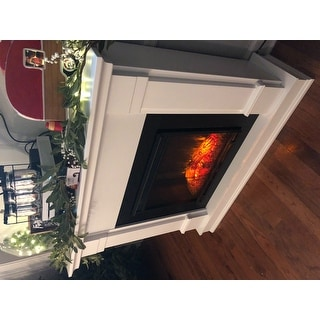 Real Flame Silverton White 48 in. L x 13 in. D x 41 in. H Electric Fireplace
