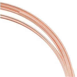 Bright Copper Plated Stainless Steel Bracelet Memory Wire 12 Loops