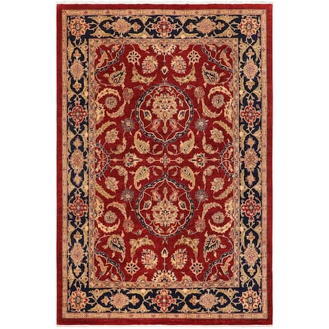 """Bohemien Ziegler Kandis Hand Knotted Area Rug -9'1"""" x 11'10"""" - 9 ft. 1 in. X 11 ft. 10 in."""