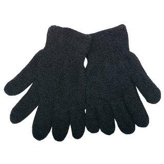 Gold Medal Women Black Solid Color Butter Gloves