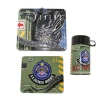 Aliens Tin Lunch Box with Thermos - Multi