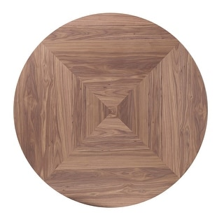 Link to Draper Natural Walnut and Espresso Round Top Dining Table Similar Items in Dining Room & Bar Furniture