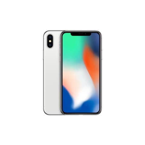 Apple iPhone X Silver ATT Locked Ceritifed Refurbished Phone - 64 GB