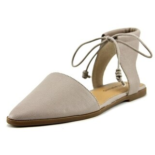 Lucky Brand Womens Mabonnee Leather Pointed Toe Casual Ankle Strap Sandals