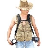 Image Camera Sling Backpack Double Shoulder Belt Strap for Canon Nikon Sony SLR DSLR