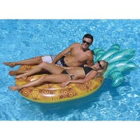 """86"""" Water Sports Inflatable Tropical Pineapple Swimming Pool Raft Float - Green"""