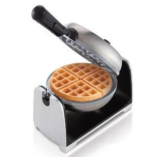 Oster Duraceramic Flip Waffle Maker- Silver Stainless Steel - CKSTWFBF22-ECO